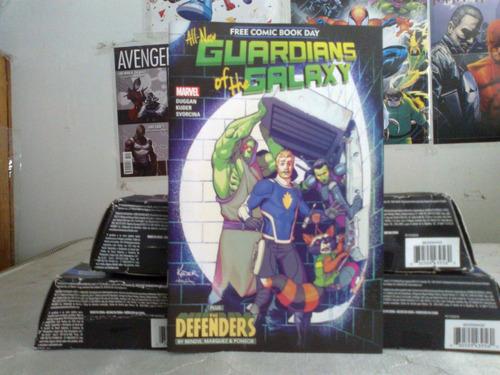 guardianes de la galaxia free comic book day the defenders