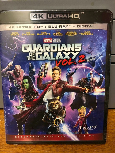 guardianes de la galaxia vol. 2 4k + blu-ray + digital hd