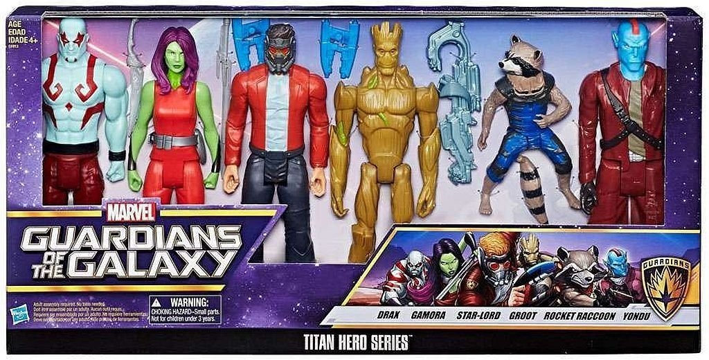 Guardians of the Galaxy Titan Hero Series 30 cm Action Figure Gamora Yondu NUOVO