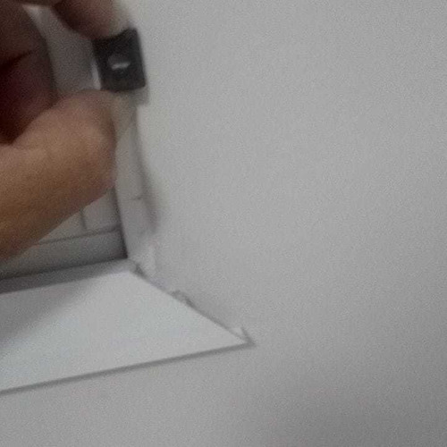 guarniçao aluminio branco 2.00x1.00