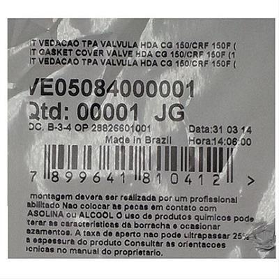 guarnicao da tampa cabecote (+02 coxins) titan 150 vedamo...