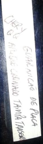 guarnição placa traseira chery qq 2010 2011 2012 2013 2014
