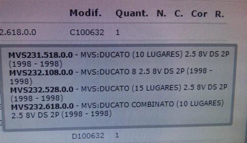 guarnição tampa bloco motor- ducato- original- liquidação.