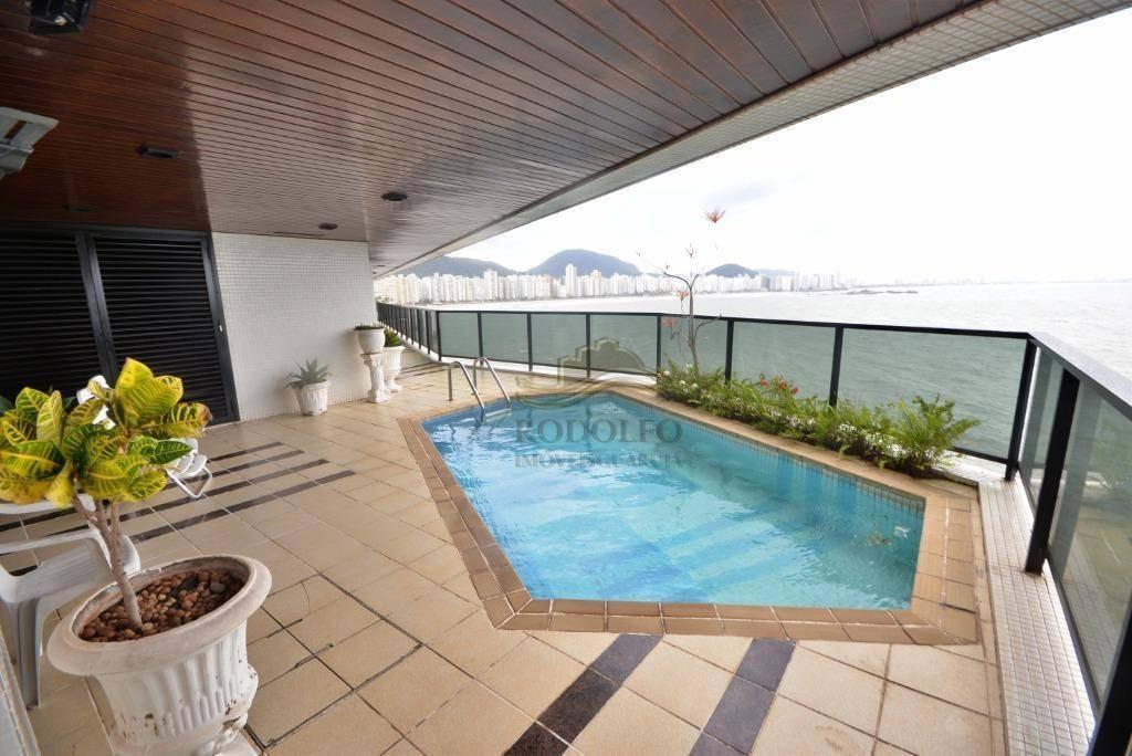 guarujá astúrias altissimo padrao 4 suítes, piscina e sauna no apartamento privativas, 4 vagas. - ap0916