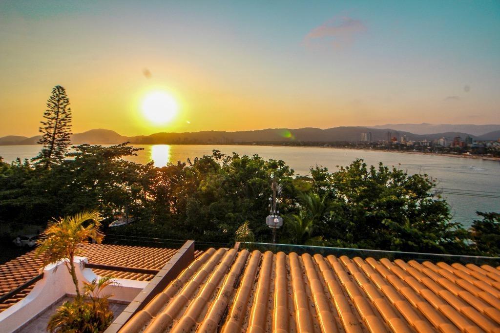 guarujá - casa na península - alto padrão - vista mar - 5 suítes - ca0289