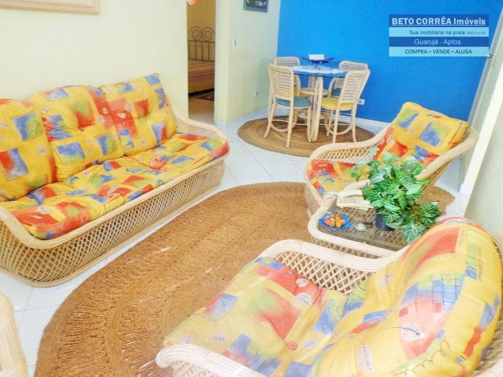 guarujá, enseada  ótimo apartamento, 2 dorms + quarto de empregada, próx. a praia. - ap0250
