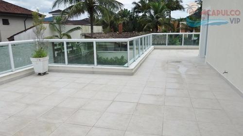 guarujá - jardim acapulco - nova - 6 suítes - 1.050 metros - estuda permuta em são paulo de até 50%. - ca0031