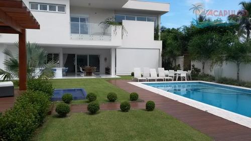 guarujá jardim acapulco - nova - decorada - 1.000 metros - 6 suítes !!! - ca0029