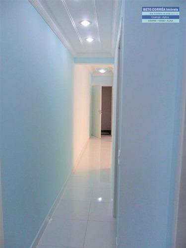 guarujá - lindo apartamento, repaginado, sem uso, 2 dormitórios, pertinho da praia - ap0059