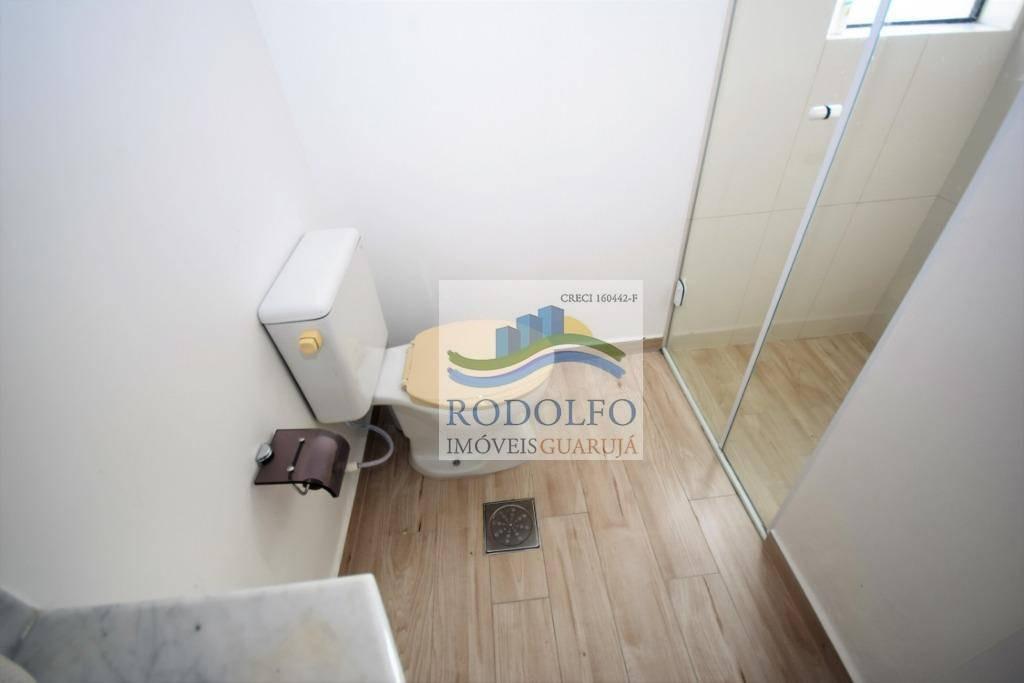 guarujá pitangueiras 2 dts ( 1 suíte) + suíte de empregada, elevador, sacada, andar alto, lazer, 2 vagas - ap0805