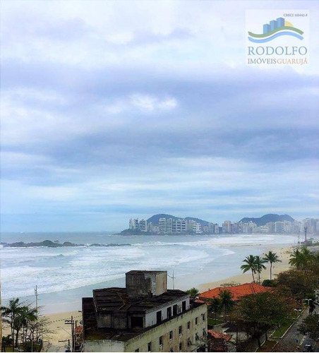 guarujá pitangueiras frente ao mar!! 3 dts ( 2 suítes) reformado, vista mar, lazer com piscina aquecida, 1 vaga no prédio - ap0305