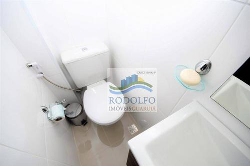 guarujá pitangueiras, frente total mar,reformado, 3 dts sendo 3 suites, lavabo, sacada, vista mar, lazer, 1 vaga - ap0634