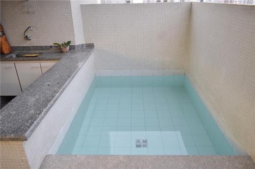 guarujá pitangueiras - terraço com piscina e churrasqueira !!! alto padrão - ap1042