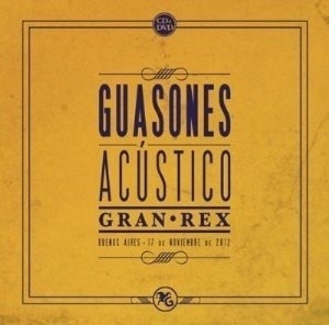 guasones - acustico gran rex cd + dvd imperdible!!!