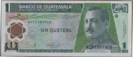 guatemala, 1 quetzal 20 dic 2006 p109 plastico