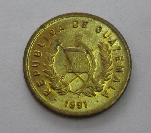 guatemala: bela moeda 1 centavo 1991 s/fc