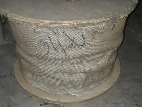 guaya 7/16  acero con alma de acero. rollo de 300 metros