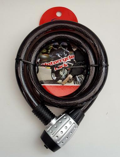 guaya candado, cable de seguridad para moto qh-tiger