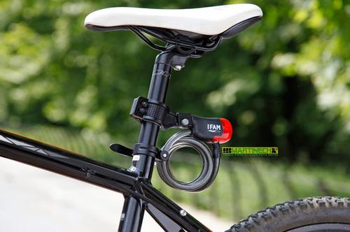 guaya candado led stop bicicleta con soporte 180cm 2 en 1