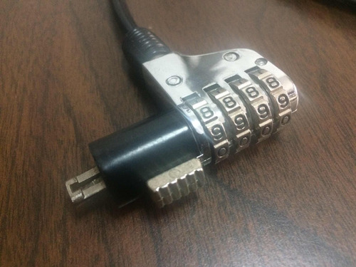 guaya de seguridad para laptop candado lock 1.8mts