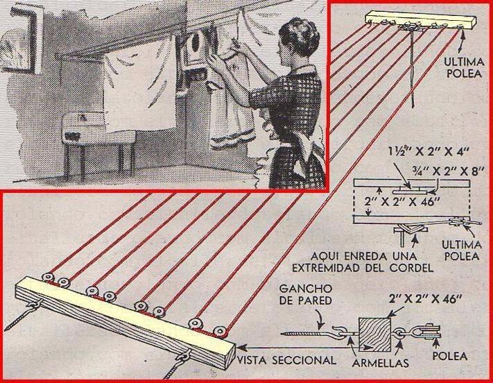 Guaya para tendederos de ropa bs 0 50 en mercado libre - Como hacer un tendedero de ropa ...