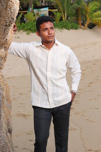 guayabera 100% algodón modelo g003
