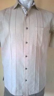 guayabera 100% algodón modelo g051