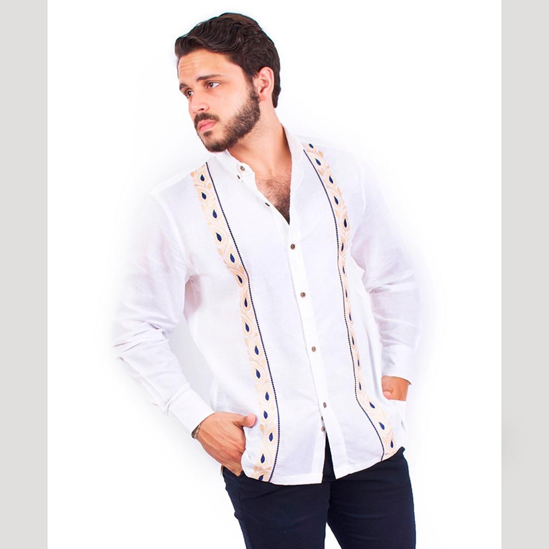 nuevo estilo nueva apariencia mitad de descuento Guayabera Blanca Hombre Bordado Artesanal Robert/b Livello