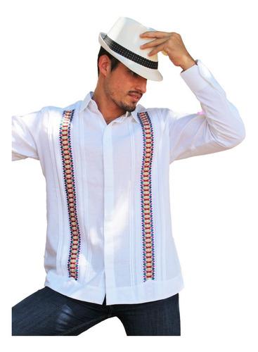 guayabera bordada modelo farid