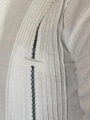 guayabera calidad superior lino mc con rejillado