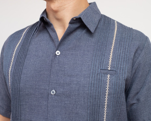 guayabera de lino mod. baca, manga corta. somos fabricantes!