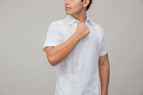guayabera yucateca gabriel manga corta lino con algodón lbf