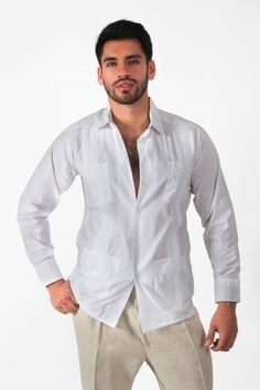 guayabera yucateca manga larga.