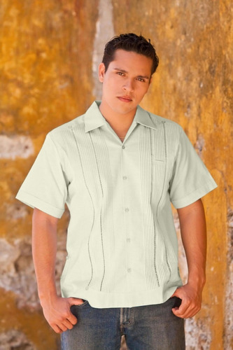 guayabera yucateca pedro manga corta algodón varios colores