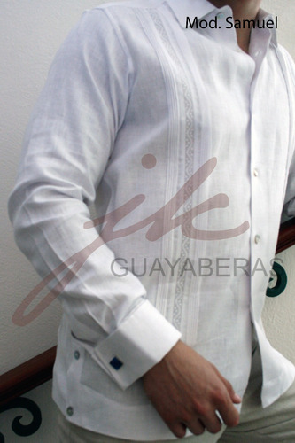 guayabera yucateca samuel doble puño en lino italiano sp0