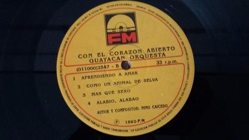 guayacan orquesta con el corazon abierto lp vinilo salsa