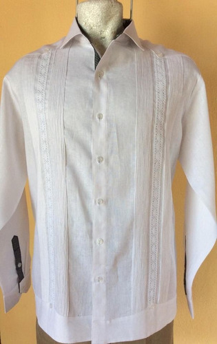 guaybera 100% algodón modelo g017