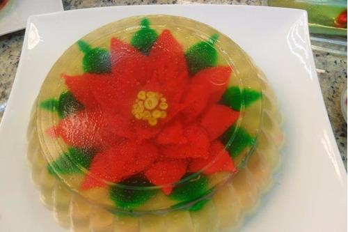 gubias navideñas para gelatinas florales en 3d - kit 3
