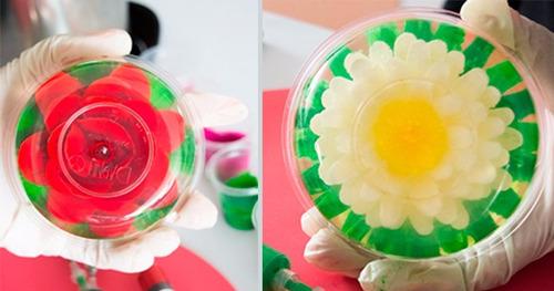 gubias para gelatinas florales en 3d - kit 2