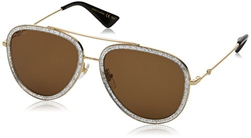 7da58a863cb Gucci 0062s 004 Gold 0062s Lentes Para Gafas De Sol De ...