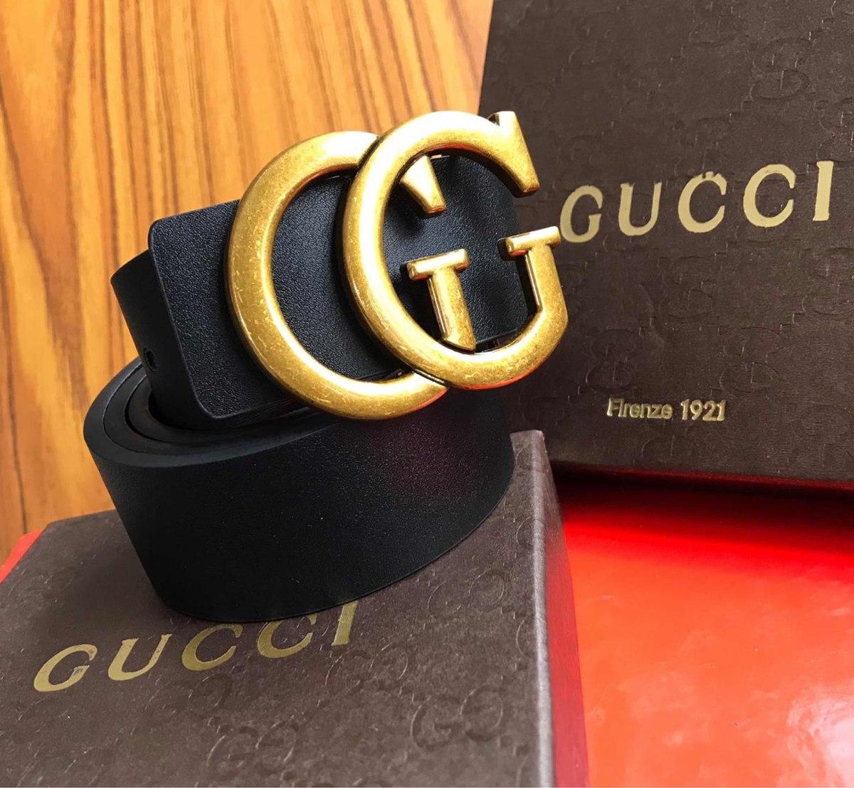 5b85025be Gucci Correa De Moda Gucci Lujo Cinturón Cuero - $ 65.500 en Mercado ...