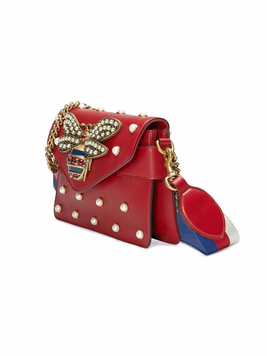 3756d964d Bolsa Gucci Broadway Couro Vermelho - R$ 1.999,00 em Mercado Livre