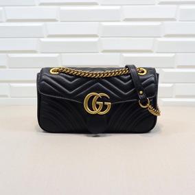 dc2cd7d58 Bolsas Gucci Negra De Piel - Ropa, Bolsas y Calzado en Mercado Libre México