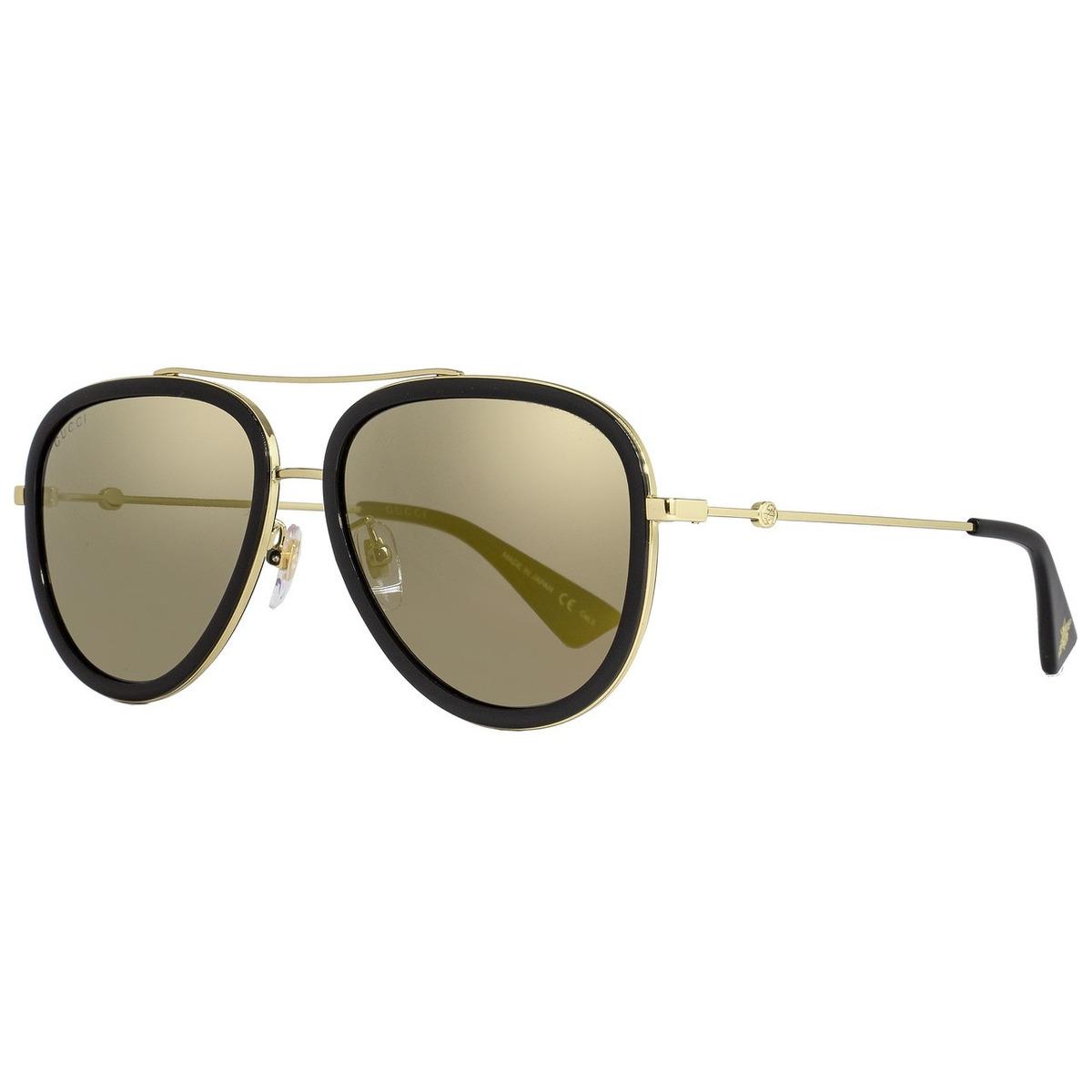 ba2df60f5 gucci gg0062s 001 aviador dorado espejo negro original nuevo. Cargando zoom.