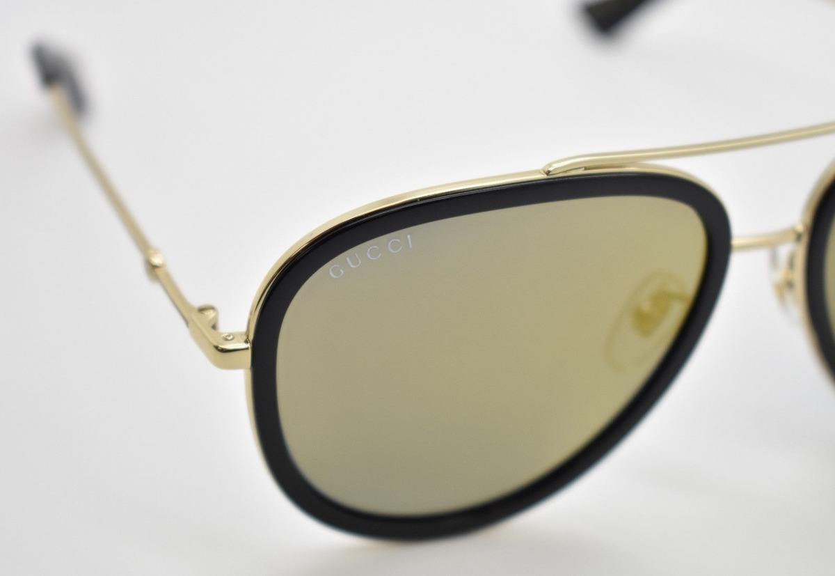 4c8efe4a5 gucci gg0062s 001 aviador dorado espejo negro original nuevo. Cargando zoom.