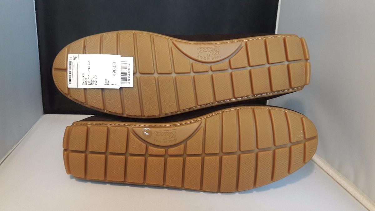 Zapatos Gucci Originales Gamuza Piel Mocasines -   2 412ba85e4ee