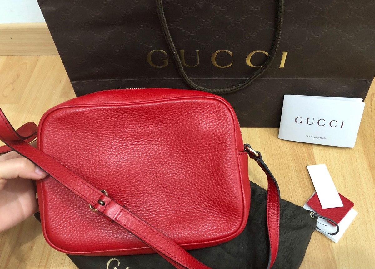 9219c2552093 gucci soho disco bag roja bolsa 100% original. Cargando zoom.