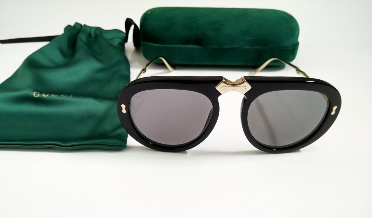 ... Óculos Gucci De Sol Aviador Dobrável Pronta Entrega - R 449,00 em . 5ef93b6289