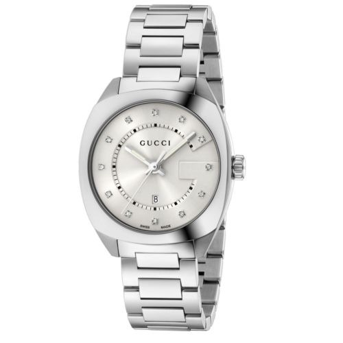 7daa5f756 Gucci Ya142403 Reloj De Cuarzo Plateado Gg2570 Para Mujer ...