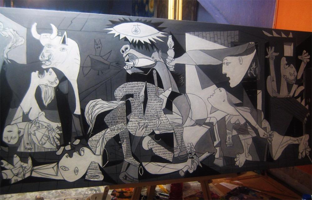 Guernica pablo picasso reproducci n oleo pintura arte - El tiempo en guernika ...